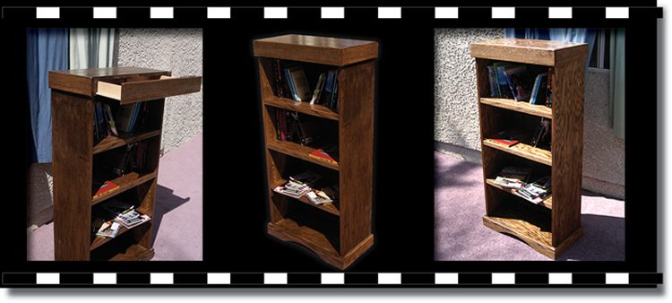 Bookcase With Hidden Compartments To Hide Valuables