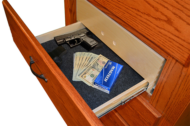 Split Drawer with Pistol