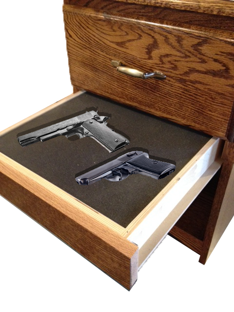 nightstand hidden gun storage