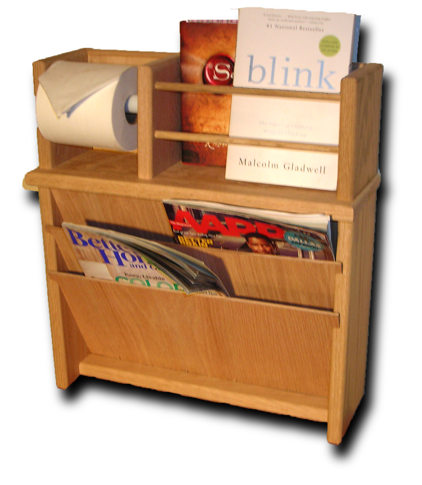 Magazine Rack With Hidden Compartment